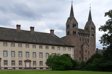 Corvey Schloss und Abteikirche