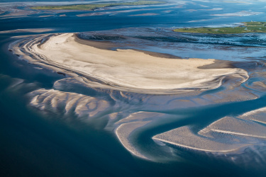 Dynamische Sandbank im Wattenmeer